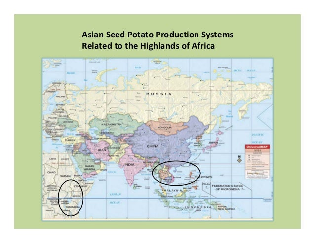 Asian Seed Potato Production Systems Related to the Highlands of Africa