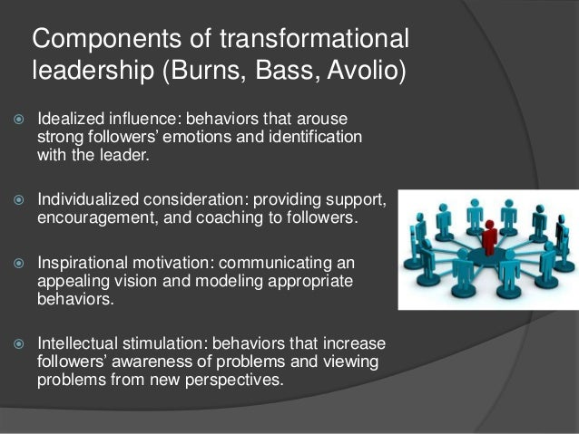 transformational leadership behaviors Transformational leadership seeks to create a positive change in those who follow the leader enhances the morale, performance, and motivation of employees, inspires change driven by a strong purpose, and is able to create a culture of trust and innovation within the organization.