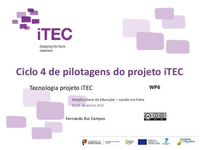 Apresentação Tecnologia projeto iTEC
