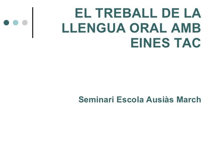 Sessió 1 el treball de la llengua oral