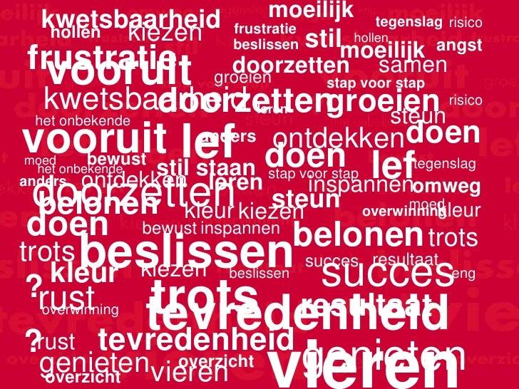 kwetsbaarheid                 moeilijk          tegenslag risico   hollen kiezen          frustratie                      ...