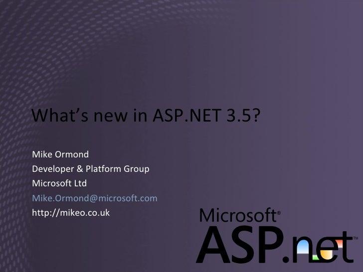 Session 2 - ASP.NET 3.5