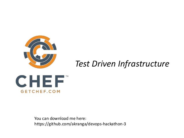 Test Driven Infrastructure You can download me here: https://github.com/akranga/devops-hackathon-3