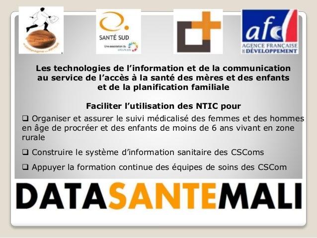 Les technologies de l'information et de la communication au service de l'accès à la santé des mères et des enfants et de l...
