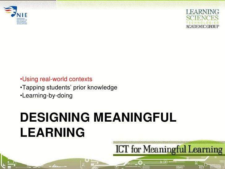 Session02b Meaningful Learning (Real-world)