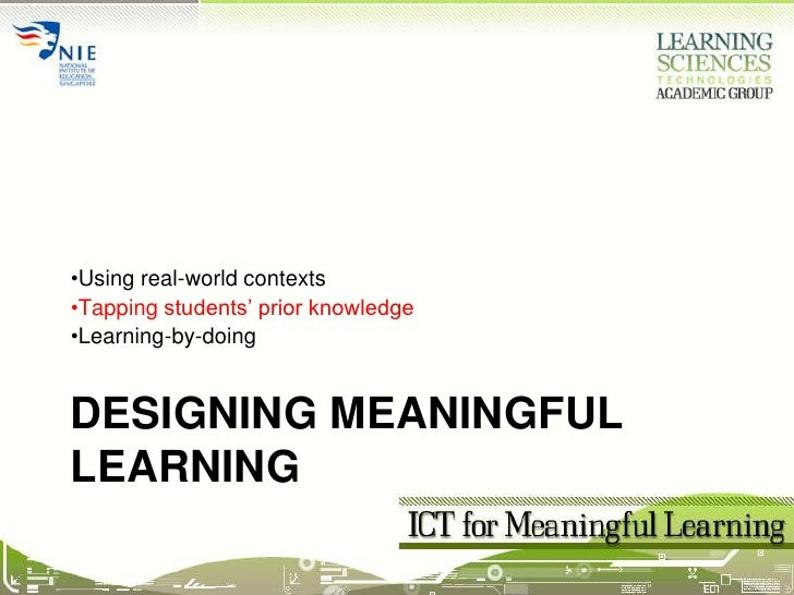 Session02c ICT for Meaningful Learning (Prior Knowledge)