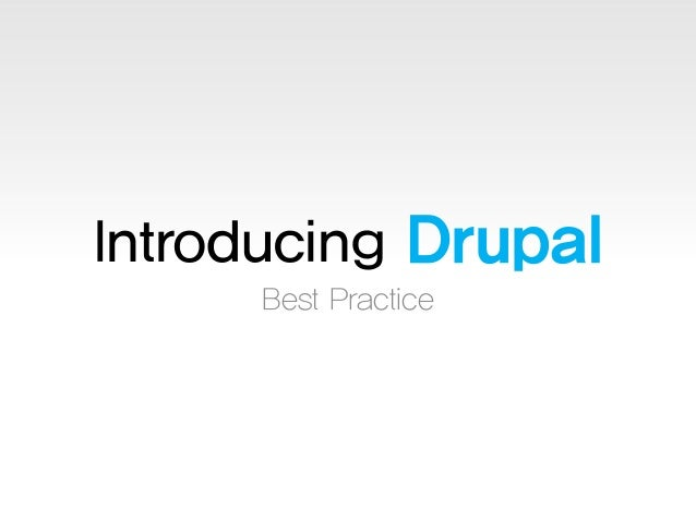 Introducing Drupal