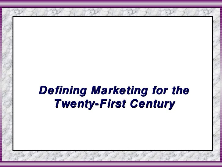 Marketing Management Session 1 & 2