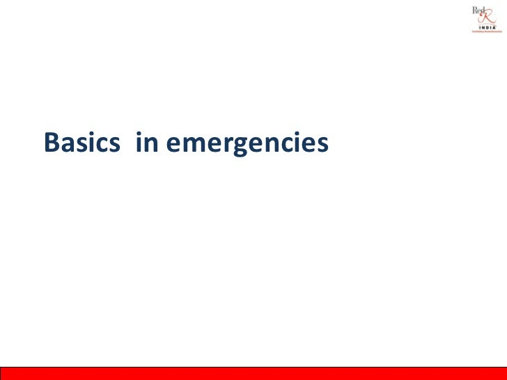 Session 1.3 need for disaster responses