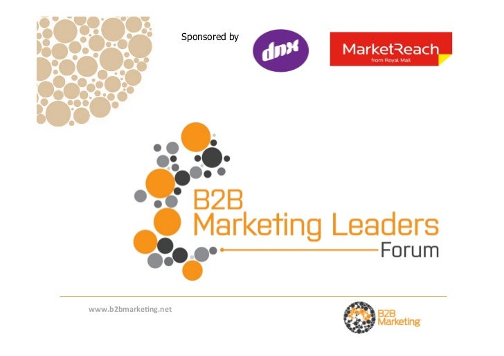 Overview of B2B Marketing's research on the key issues and challenges facing Marketing Leaders