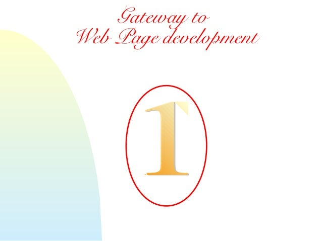 Session1   gateway to web page development
