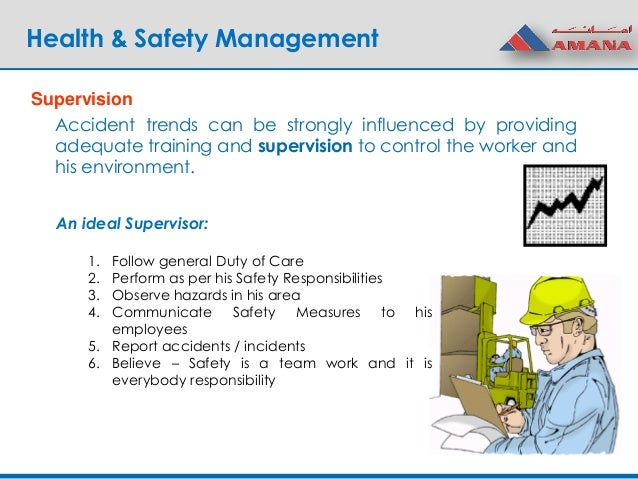 1 4 identify the lines of responsibility and reporting for health and safety Safety and health management system in oil and gas industry • identify possible safety and health relevant report generation from health and safety data.