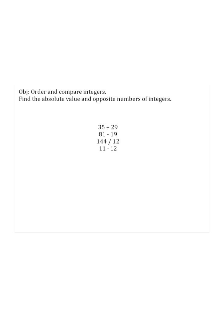 Session 1: Understand Integers