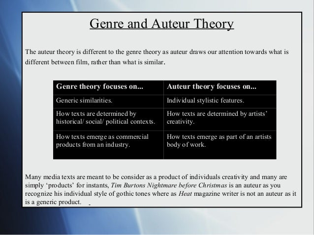 Auteur theory essay