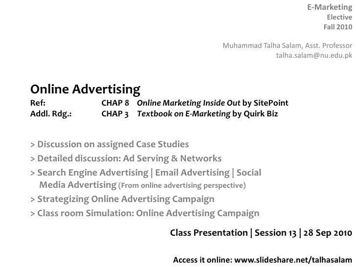 Session 13  E-marketing - 28 Sep 10