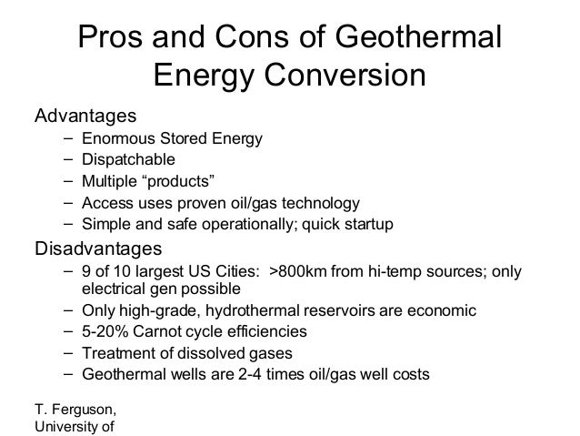 ... and cons of geothermal energy conversion advantages enormous stored