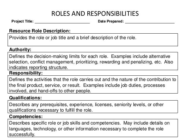 job description roles and responsibilities Learn about business manager responsibilities and how they differ in small and large job descripion & responsibilities of a business job description and duties.