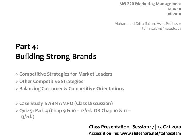 Session 17  MG 220 MBA - 14 Oct 10