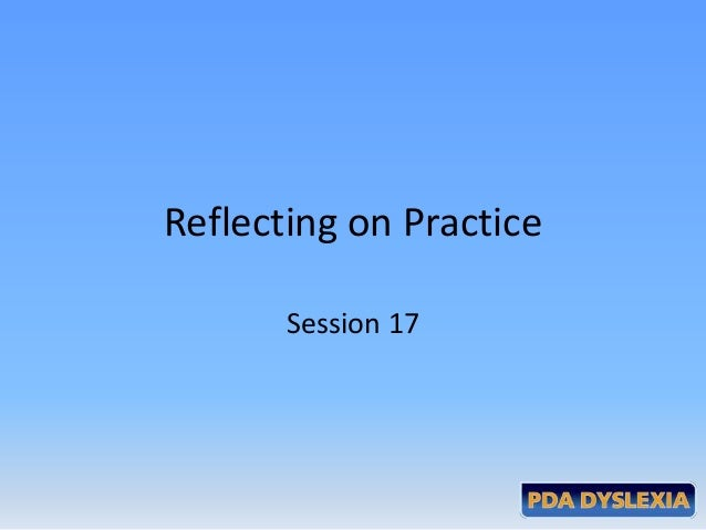 Reflecting on PracticeSession 17