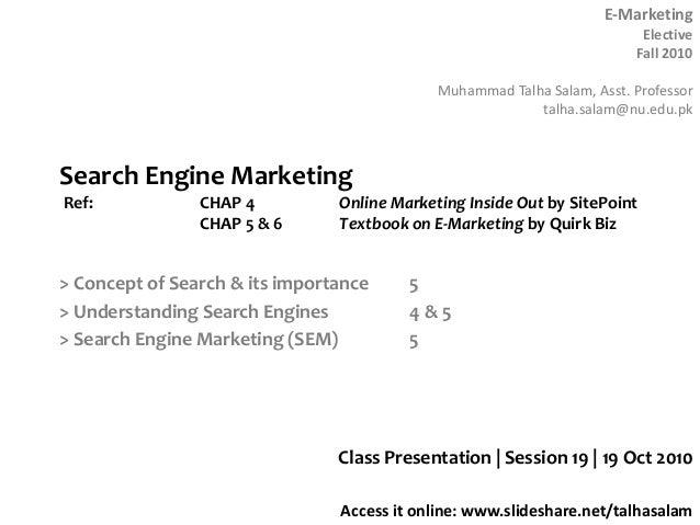 Session 19  E-marketing - 19 Oct 10