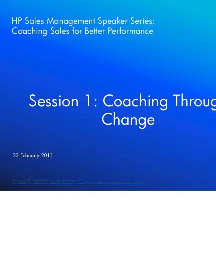 Session 1 Coaching Through Change