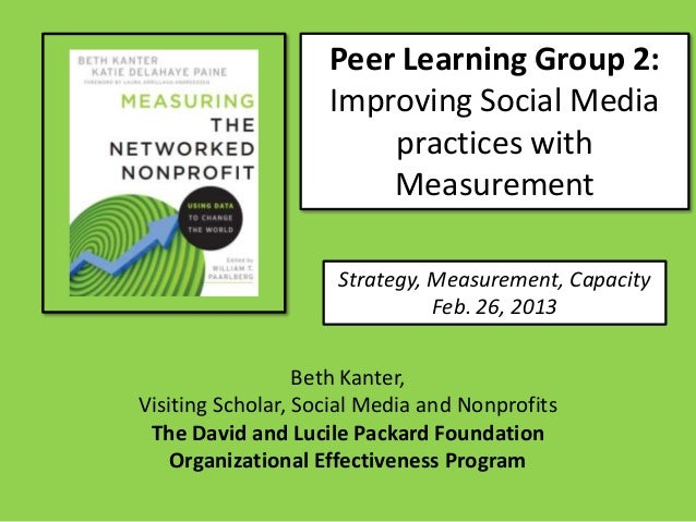 Peer Learning Group 2:                    Improving Social Media                        practices with                    ...