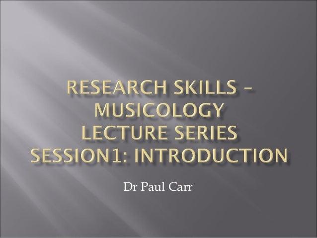 Dr Paul Carr