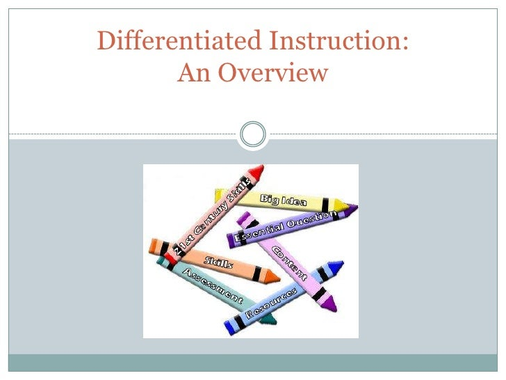 Differentiated Instruction:       An Overview