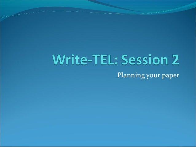 WriteTEL: Session2