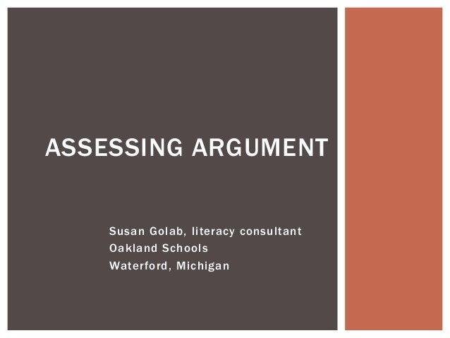 Session2.assessing argument