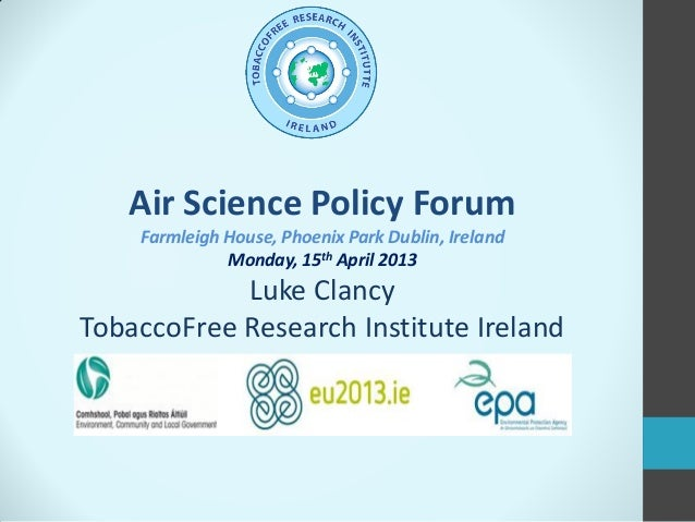 Motivation for action: the Irish Smog and Smokefree - Luke Clancy