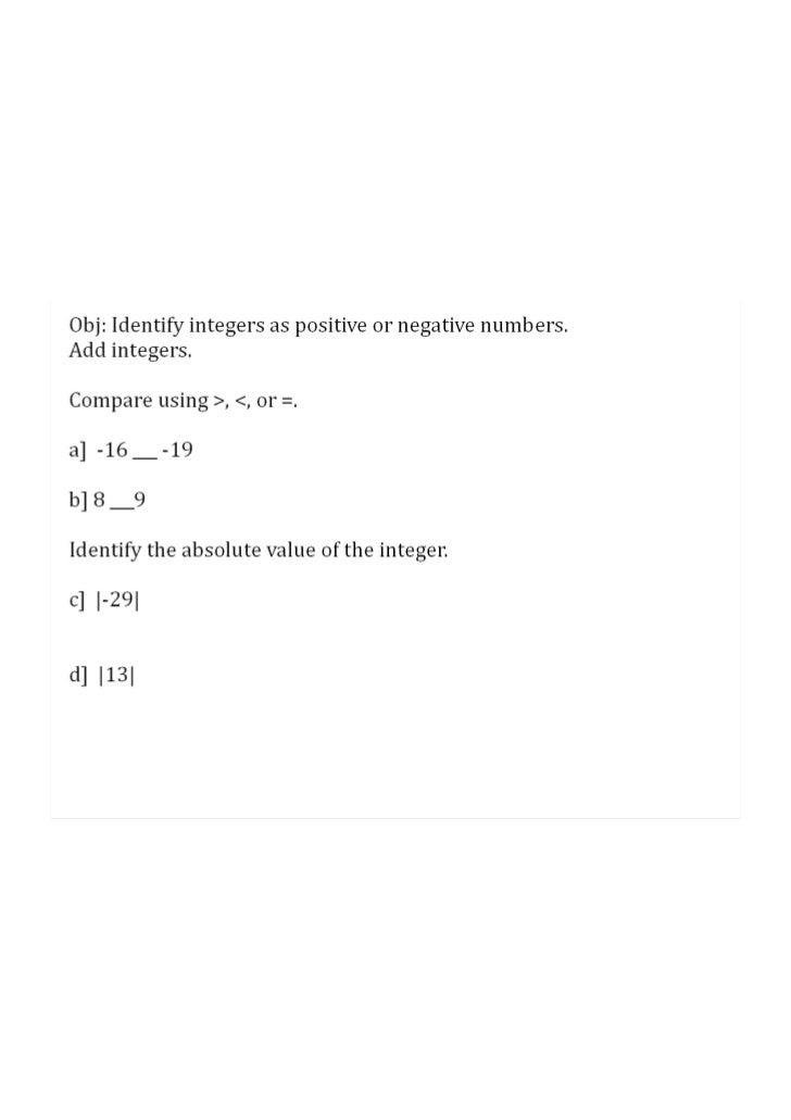 Session 2: Add Integers