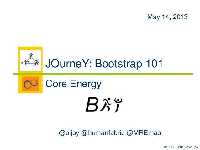 Bootstrap 101: JOurneY Session 2