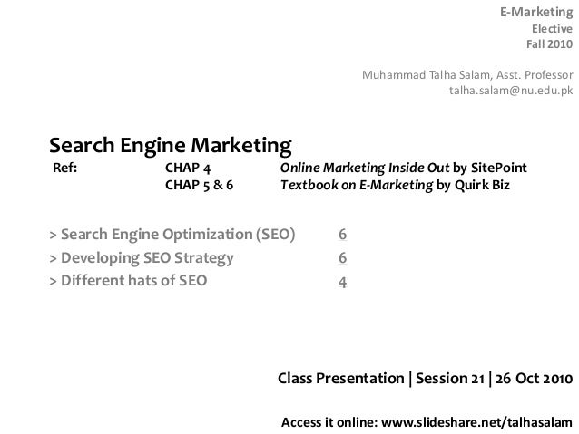 Session 21  E-marketing - 26 Oct 10