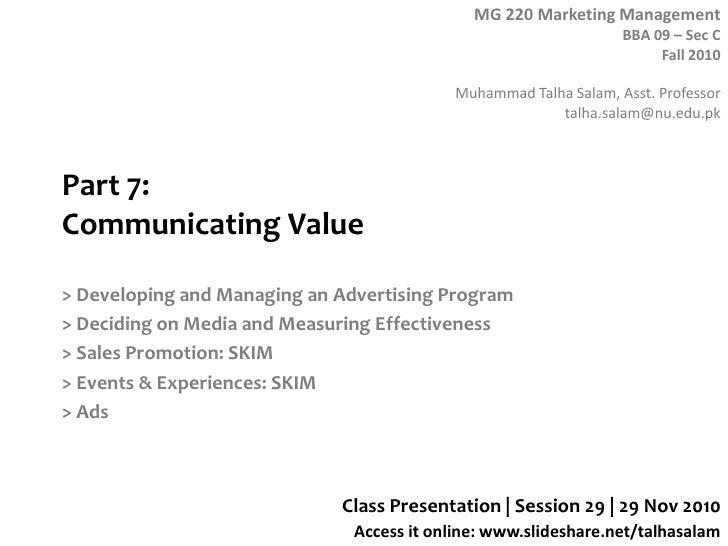 Session 29  MG 220 BBA - 29 Nov 10
