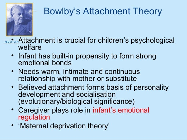 child development report on john bowlby essay The individual, and the best example of application of these accounts to child development is the social learning theory of albert bandura other theories have their origins in evolutionary theory, and the best example in developmental.