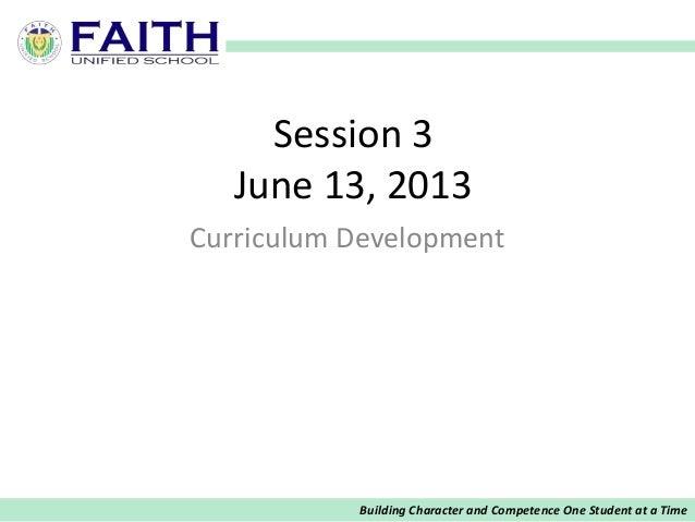 Session 3 CURRDEV