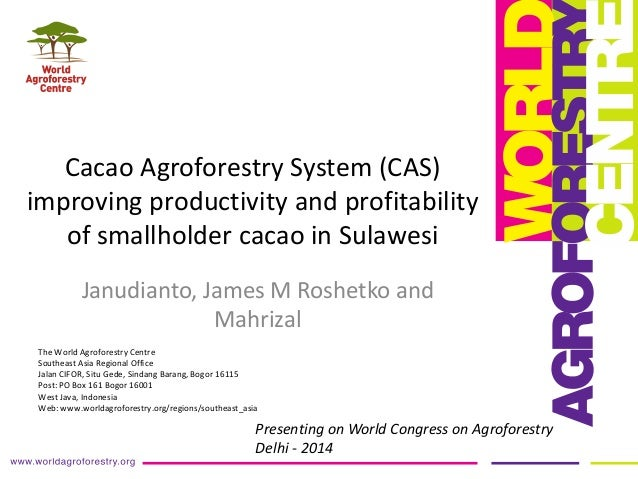 Session 3.1 cacao agroforestry system   sulawesi janudianto