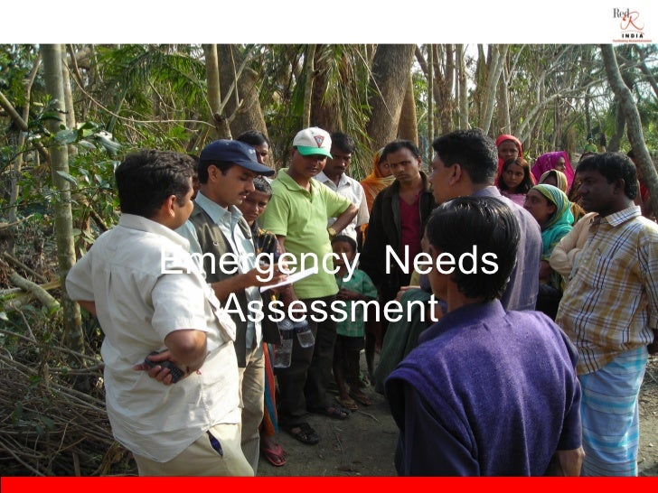 Session 3.4  emergency needs assessment