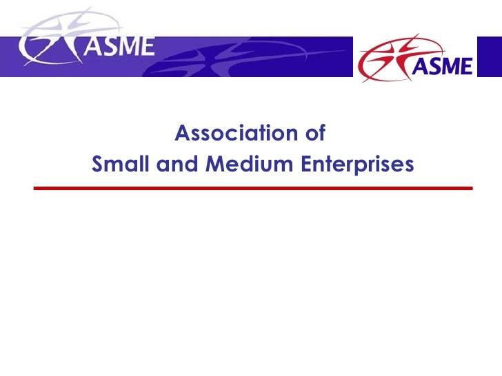 Association ofSmall and Medium Enterprises