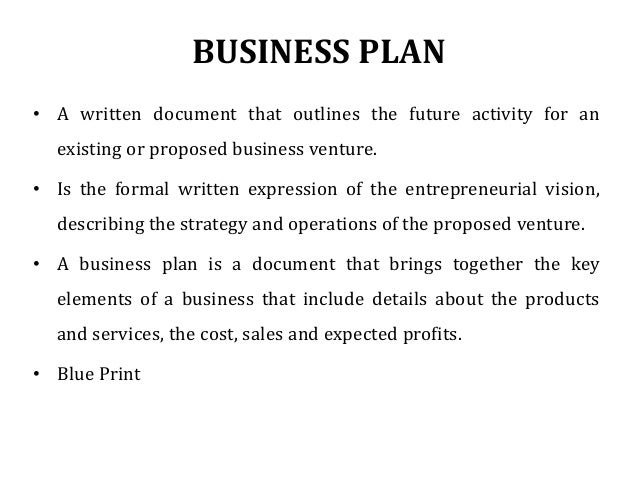 Writing a short business plan