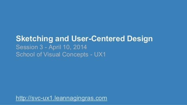 Sketching and User-Centered Design Session 3 - April 10, 2014 School of Visual Concepts - UX1 http://svc-ux1.leannagingras...