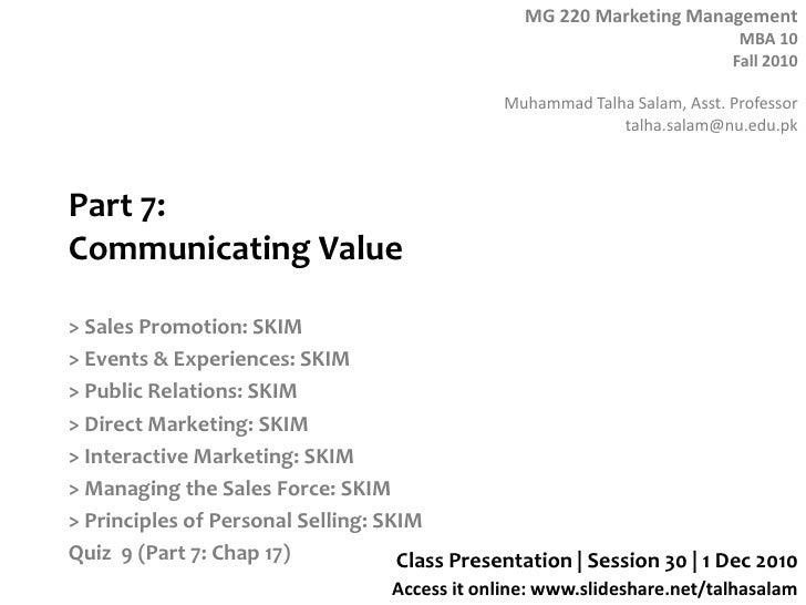 Session 32  MG 220 MBA - 2 Dec 10