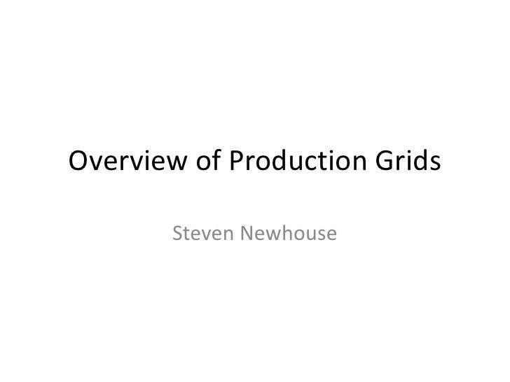 Session 33 - Production Grids