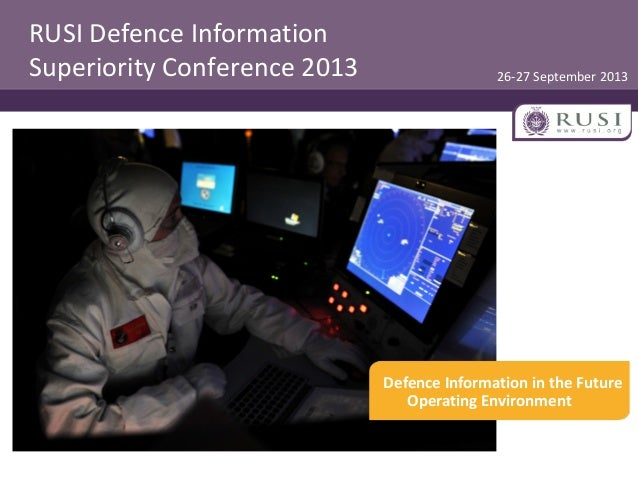 Session Three: Defence Authority for C4ISR