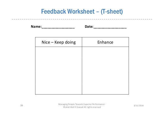 Printables Performance Feedback Worksheet collection performance feedback worksheet photos kaessey