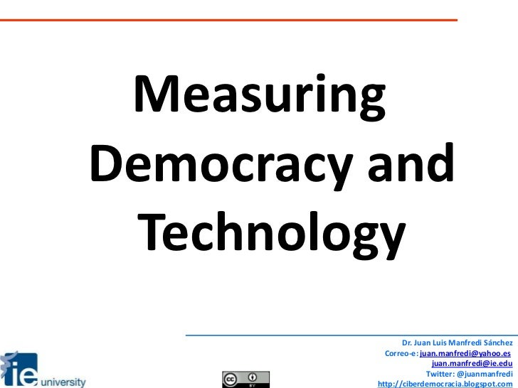 Session 3 measuring democracy and technology