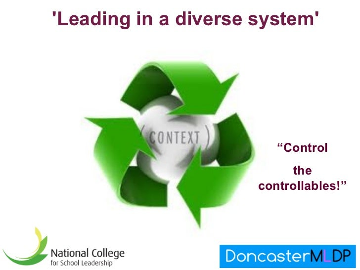 """Leading in a diverse system                         """"Control                           the                      controllab..."""