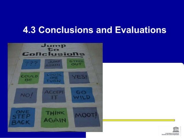 Session 4.3 conclusions, workshop evaluation chengdu