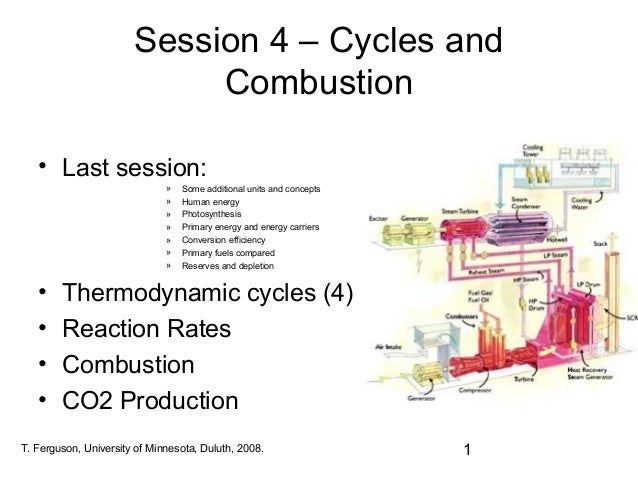 Session 4   cycles and combustion
